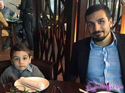 Prezidentin kürəkəni ilə nəvəsi restoranda - foto