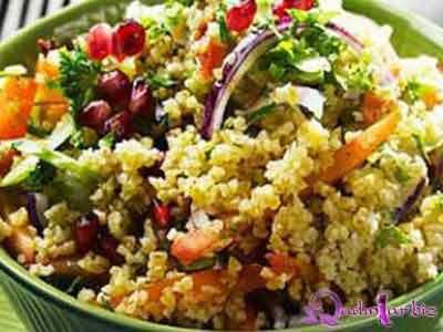 Bulqurlu avokado salatı resepti