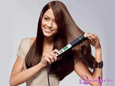 Saçları düzləşdirmək üçün təbii vasitələr