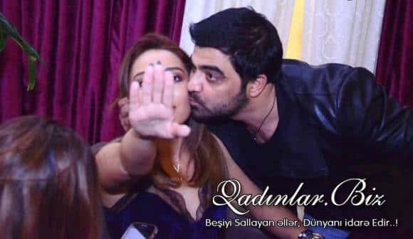Evli aparıcımız Fərda Günayı öpdü, aləm bir-birinə dəydi - ŞOK FOTO