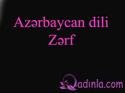 Azərbaycan dili - Zərf